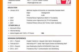Free Forms How To Write A Cv Resume English Format Examples