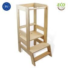 totsy baby lernturm für kinder learning tower hochstuhl montessori lerntower baby lernstuhl tritthocker trittschemel aus natur holz kitchen helper