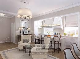 White Kitchen Dining Room Interior Design