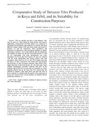 PDF Comparative Study Of Terrazzo Tiles Produced In Koya And Erbil Its Suitability For Construction Purposes