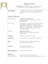 Examples Of Resumes With No Experience Waitress Example Restaurant Waiter Resume For