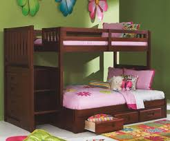 merlot twin over full staircase bunk bed with trundle or 3 drawer