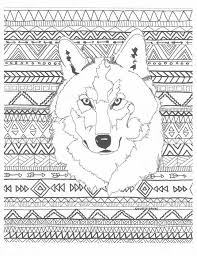 Coloring Pages For Adults Wolf 1202 Best Images On Pinterest
