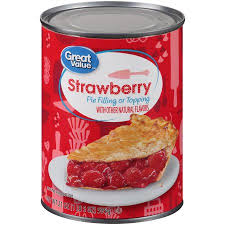 Great Value Pie Filling or Topping Strawberry 21 oz