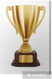 leinwandbild gold trophy