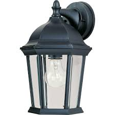 maxim lighting builder cast 1 light black outdoor wall mount