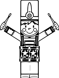 Nutcracker Coloring Pages Playing Drum