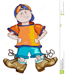 Billy with Big Shoes stock illustration Illustration of little