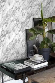 wohnzimmer tapete marmor optik schwarz weiß 139119