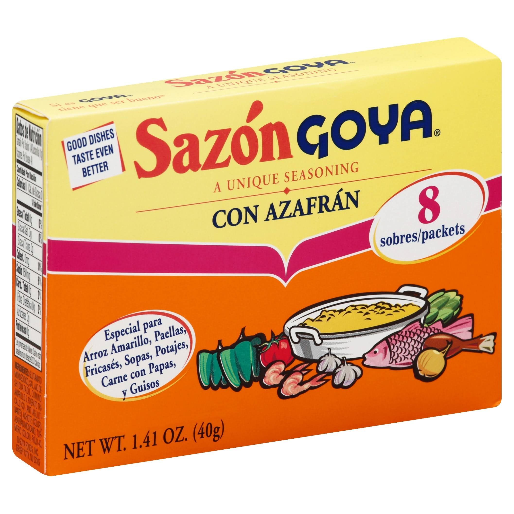 Goya Sazon Con Azafran Seasoning - 1.41oz