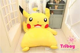 2018 Size 220cmx150cm Pikachu Cartoon Stuffed Sleeping Bed