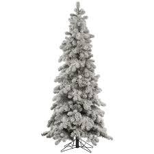 Pre Lit Flocked Alaskan Christmas Tree by 7 Foot Medium Flocked Kodiak Spruce Christmas Tree Unlit A146870