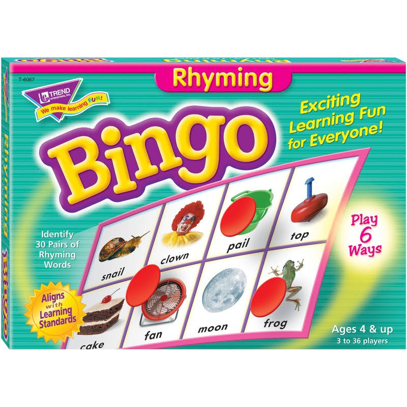 Trend T6067 Rhyming Bingo Learning Game