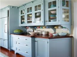Decoration Blue Painted Kitchen Cabinets Blue Painted Kitchen Cabinet