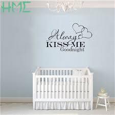 baise dans la chambre 1 pcs chambre enfants stickers chambre décoration baiser toujours