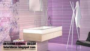 Color For Bathrooms 2014 by Wall Tile Designs For Bathroom In Purple Color Purple Tiles