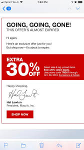 30%off Macy's Coupon. Ends Tonight. : Frugalmalefashion Aicpa Member Discount Program Moosejaw Coupon Code Blue Light Bulbs Home Depot The Best Discounts And Offers From The 2019 Rei Anniversay Sale Bodybuildingcom Promo 10 Percent Off Quill Com Official Traxxas Sf Opera 30 Off Mountain House Coupons Discount Codes Omcgear Pizza Hut Factoria Cabelas Canada 2018 Property Deals Uk Skiscom Door Heat Stopper Diabetuppli4less Vacation Christmas Patagonia Burlington Home Facebook