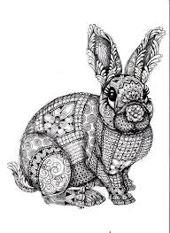 To Print This Free Coloring Page Adult Difficult Rabbit