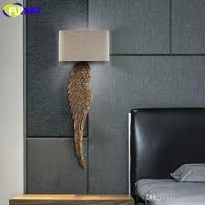 großhandel fumat wood wing wandleuchten gold wandleuchten für wand stoff lenschirm wandleuchte leseleuchte schlafzimmer holz wandleuchte modern