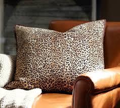 cheetah pillow cover pottery barn