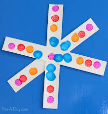 Simple Colorful Snowflake Craft For Kids