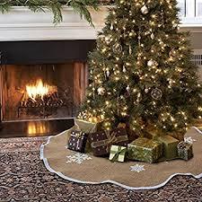 Hobby Lobby Burlap Christmas Tree Skirt by Amazon Com Homeford Christmas Burlap Tree Skirt Under The Tree