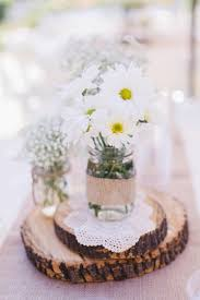 Rustic Lace And Burlap Centerpiece