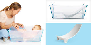 Portable Bathtub For Adults Online India by Stokke Flexi Bath Transparent
