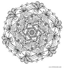 Free Printable Coloring Pages For Adults Advanced Flowers Pdf Mandala Tagged Horse Pa Full Size