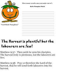 Pumpkin Patch Parable Craft by Pumpkin Sunday Lesson Preschool Kids Fall Lesson Plans