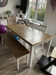 tisch bank stühle und zusatzplatte wien dänisches bettenlager