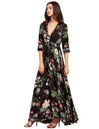 milumia women u0027s button up split floral print flowy party maxi