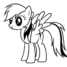 My Little Pony Coloring Pages Rainbow Dash 9 16291