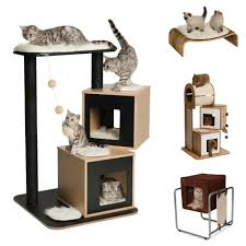 modern cat tower review vesper cat furniture the conscious cat