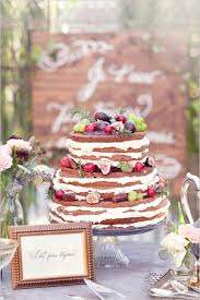 Rustic Wedding Cake Fresh Fruit