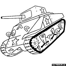 Sherman Tank Online Coloring Page