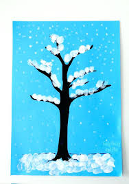 Winter Crafts For Kids To Make Easy Tree Finger Painting Quick Art Project