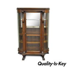 Curved Glass Curio Cabinet by Early Vintage Hanging Shaving Mirror W Towel Bar Glass Shelf