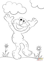 Click The Happy Elmo Coloring Pages To View Printable