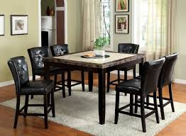Gorgeous Dining Room Design With Marble Counter Tall Table Fabulous Ideas