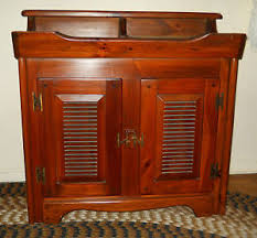 beautiful med finish vintage 1960 s pine dry sink with removable