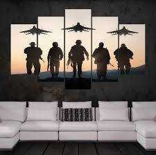 US Army Sol rs Wall Art Multi Panel Canvas