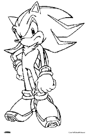 Super Shadow The Hedgehog Coloring Pages