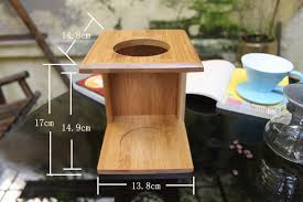 DIY Pour Over Coffee Maker Sets V 60 Dripper Glass Server Bamboo Stand Kitchen Gadgets Hand Drip Holder In Pots From Home