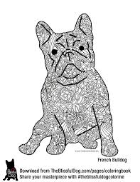 The Blissful Dog French Bulldog Coloring Page BIG File So It Will Print On US