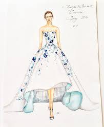 natalia zorin lou marker sketch of ralph u0026 russo haute couture