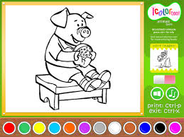 Download Free I Color Too Coloring Book Animals 2