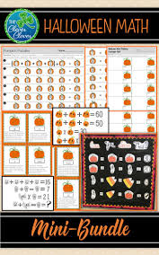 Halloween Brain Teasers Worksheets by 6135 Best Halloween Math Ideas Images On Pinterest Halloween