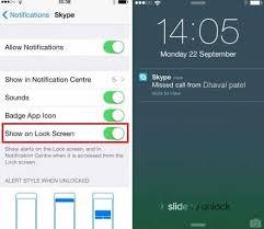 Get Skype notification on lock screen iPhone – iPhone 6 6
