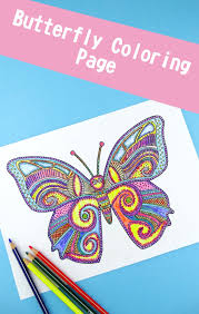Butterfly Coloring Page For Adults